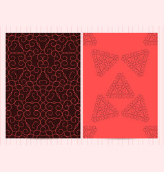 A4 format cards decorated with mandala template vector