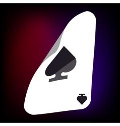 Ace of spades card icon cartoon style vector