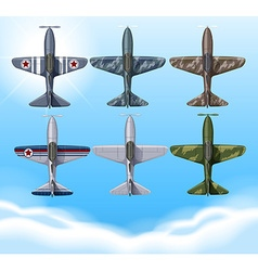 Airplane in military design vector