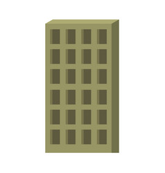 apartment building icon green silhouette without vector image vector image