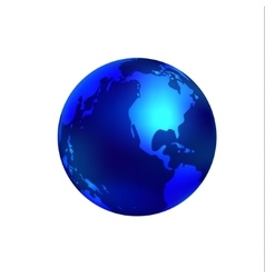 Blue world globe vector image