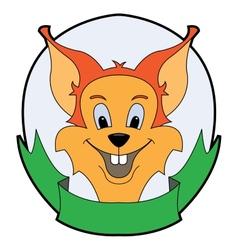 bright cheerful baby squirrel vector image vector image