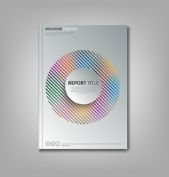 brochures book or flyer with abstract rainbow in vector image vector image