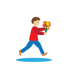 Child with flowers vector image