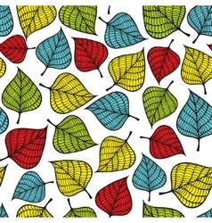 Colorful seamless pattern with leaves vector image vector image