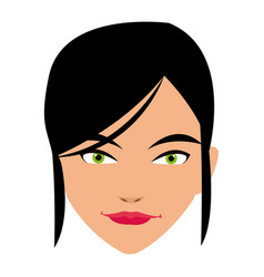 Cute face woman female hairstyle beautiful vector