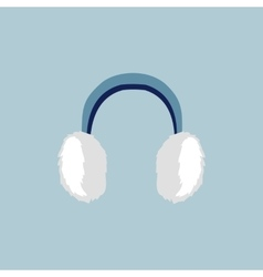 Flat earmuffs icon vector