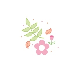 Flower love icon vector