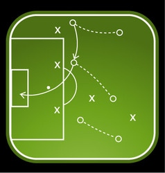 Football tactics board vector
