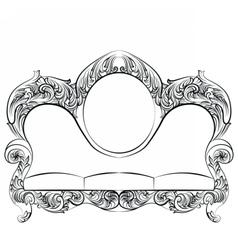 Glamorous rich baroque rococo sofa vector