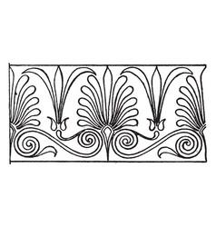 greek cyma link border is a design found between vector image vector image