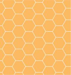 honeycomb hexagonal pattern vector image vector image