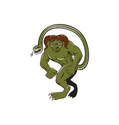 Humbaba Punching Cartoon vector image vector image