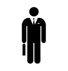icon man businessman vector image