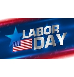 Lettering Labor Day on the background vector image vector image