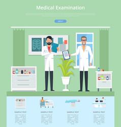 medical examination service vector image vector image