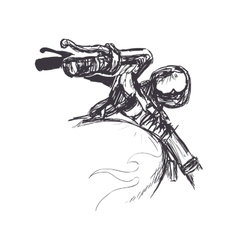 motorcycle sketch transportation flame icon vector image