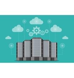 Network communications server computer concept vector