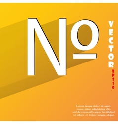 number Flat modern web button with long shadow and vector image vector image