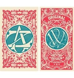 Old card set vector