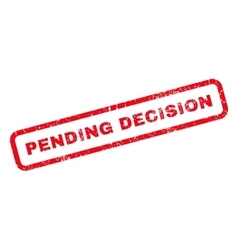 Pending decision rubber stamp vector