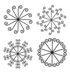 set of elements for design - spiral curls vector image vector image