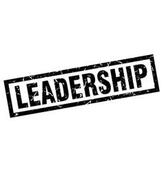 Square grunge black leadership stamp vector