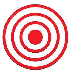 target icon on white background target sign vector image vector image