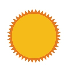 Sun sunny star isolated icon vector