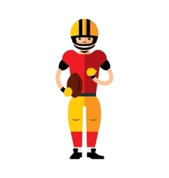 American football player flat style vector