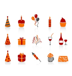 Simple color birthday icon vector
