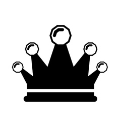 Black silhouette crown king with precious stones vector