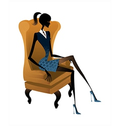 woman sitting vector image