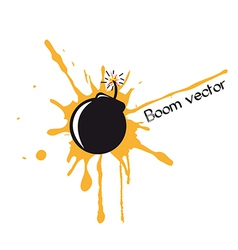 bomb comic vector image