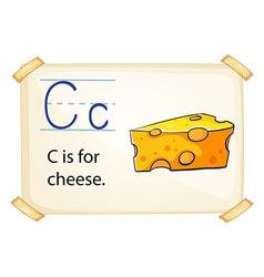Alphabe C vector image