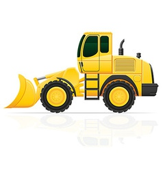 Bulldozer on wheels vector