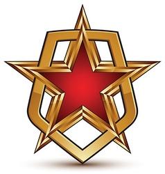3d glamorous royal symbol sophisticated golden vector