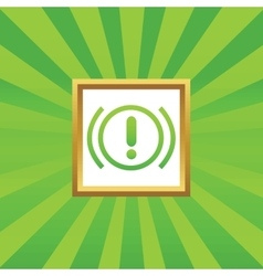 Alert picture icon vector