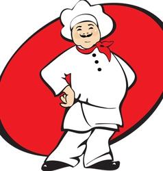 Cook man cartoon vector