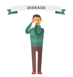 Man illness vector