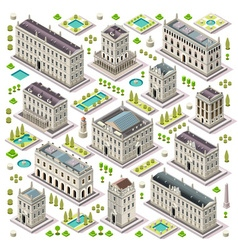 City map set 06 tiles isometric vector