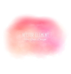 Watercolor spot peach and pink colors vector image
