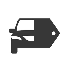 Car and label icon transportation machine design vector