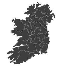 Map of ireland with regions vector