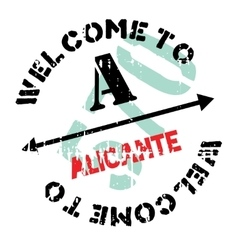 Alicante stamp rubber grunge vector