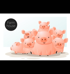 Animal banner with Pigs for web design 3 vector image