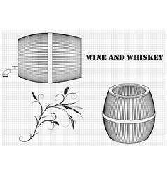 Barrel on a white background vector