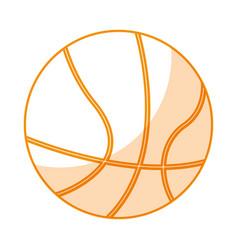 Basketball balloon isolated icon vector
