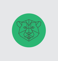 Beaver abstract geometric portrait vector