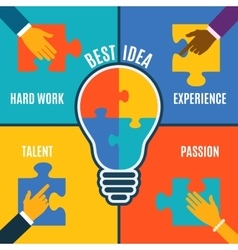 Best bright idea creative conceptual background vector